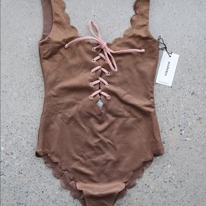 Marysia Palm Springs Lace-Up One Piece